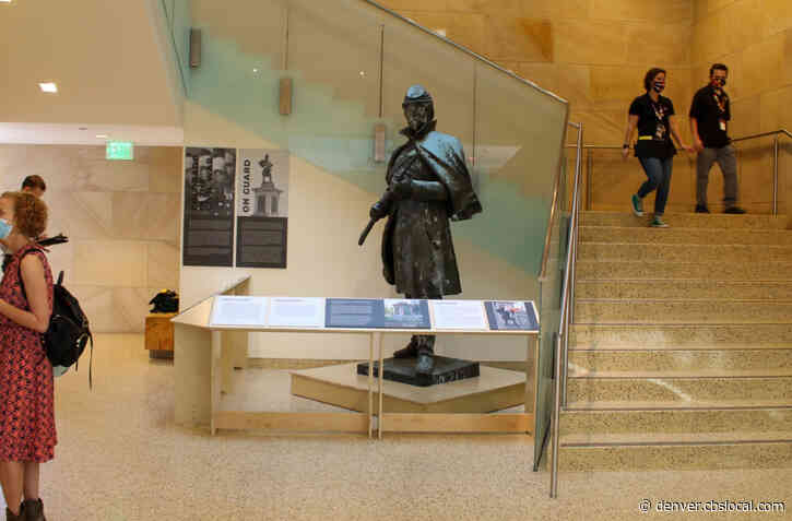 Toppled Statue Outside Colorado Capitol Now On Display Inside History Colorado Center