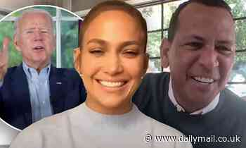 Jennifer Lopez and Alex Rodriguez endorse Joe Biden for president in a video chat