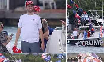 Eric Trump hits the high seas for a MAGA boat parade in Miami