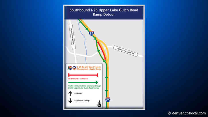 Drivers Can Expect 20 Minute Delays Along I-25 Gap Project This Weekend