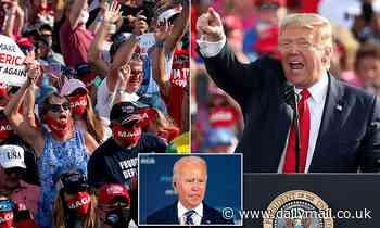 Crowd chants 'lock him up' as Donald Trump rails against Joe Biden at Florida rally