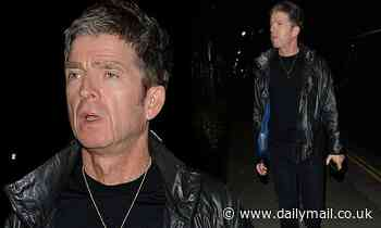 Noel Gallagher goes mask-free as he heads out for dinner