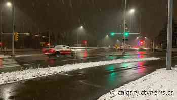 Overnight snowfall makes for slick conditions on Calgary roads - CTV Toronto
