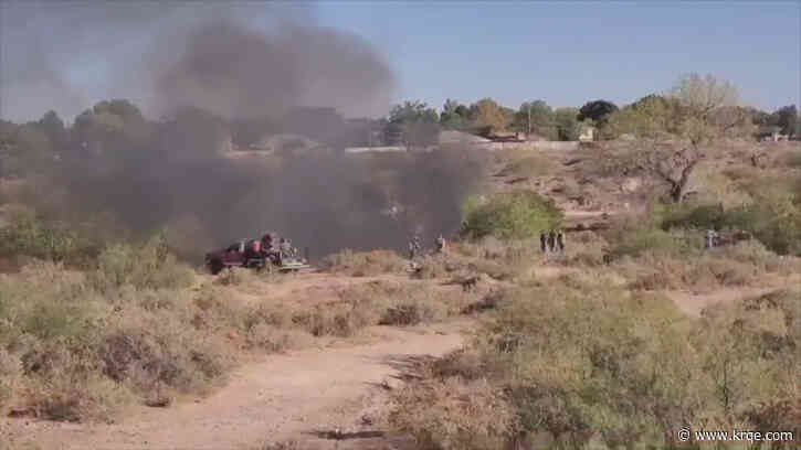 Fire breaks out at homeless camp in Berrendo riverbed