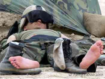 The Army says soldiers should nap more. Here are 13 weird places US troops have been sleeping