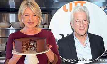 Martha Stewart gifts famouschocolate caramel Mile-High cake to neighborRichard Gere