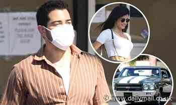 Jesse Metcalfe cruises in for a cozy lunch date with a mystery woman in a classic muscle car