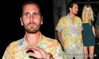 Scott Disick is pictured with another leggy model Megan Blake Irwin after dinner in West Hollywood