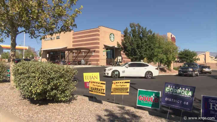 Starbucks worker removes political signs at westside location