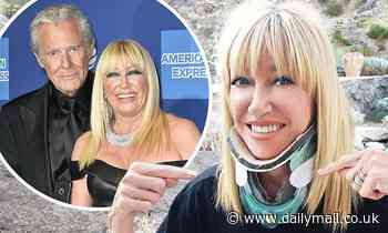 Suzanne Somers denies her fall down the stairs happened while having sex with her husband