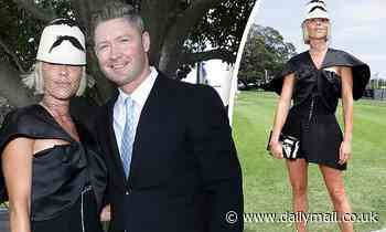 Pip Edwards wears $14K outfit & cosies up to cricketer boyfriend Michael Clarke at Racing Carnival