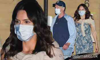 Pregnant Katharine McPhee, 36, dines at Nobu with husband David Foster, 70, and her mother Peisha