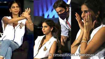 Shah Rukh Khan's daughter Suhana Khan's candid expressions during KKR vs Mumbai Indians' IPL match is winning hearts