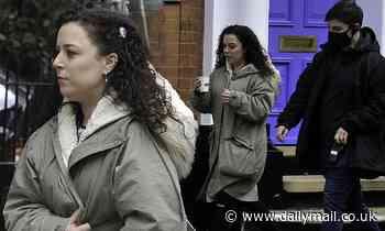 Tracy Beaker star Dani Harmer bundles up in an oversized khaki coat as she continues filming scenes