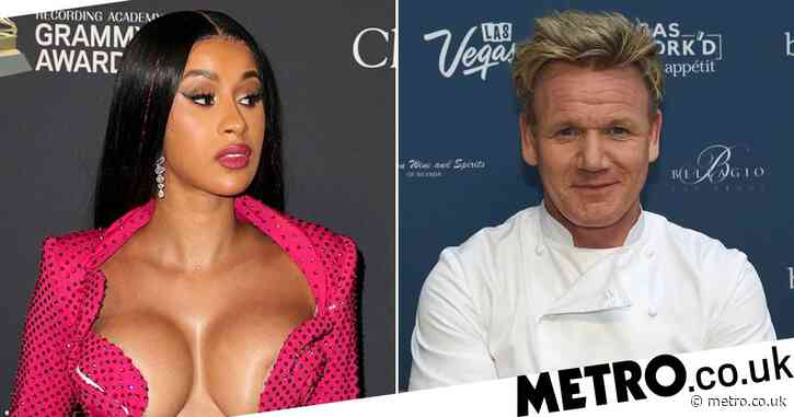 Cardi B laughs at Gordon Ramsay meme about her 'pancake boobs' after accidental nude leak