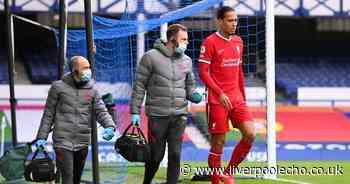 Virgil van Dijk injury scare for Liverpool after Jordan Pickford tackle