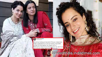 Kangana Ranaut reacts after FIR filed against her and sister Rangoli Chandel for allegedly promoting communal hatred