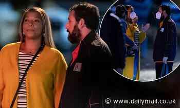 Adam Sandler and Queen Latifah film scenes together for new Netflix basketball drama Hustle