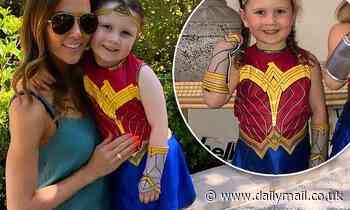Girl power! Kyly Clarke celebrates Halloween early as daughter Kelsey Lee dons Wonder Woman costume