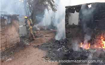 Se incendian viviendas en rancho 'El bejuco' - El Sol de Mazatlán