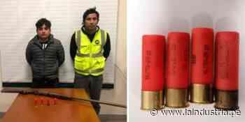 Caen sujetos con armas y municiones en Paiján - La Industria.pe