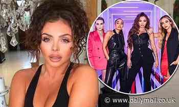 Jesy Nelson puts on a busty display in a black crop as she poses in sultry snap