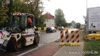 Straßenbau in Herzberg: Verkehr in der Dresdener Straße soll ab 2. November wieder rollen - Lausitzer Rundschau