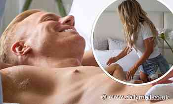 Kris Boyson strips naked as he poses for a racy photoshoot at home with girlfriend Bianca Gascoigne