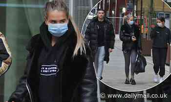 Molly-Mae Hague steps out with beau Tommy Fury and pal Maura Higgins
