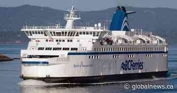 Anti-mask protesters cause disturbance on B.C. ferry, cause unloading delay