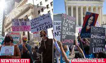 Dueling women's marches for and against Trump's SCOTUS pick Amy Coney Barrett take place nationwide