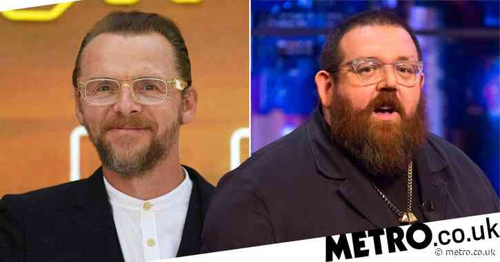 Nick Frost recalls knocking himself unconscious in a graveyard while ghost hunting with Simon Pegg