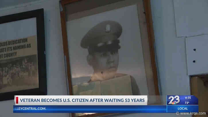 Vietnam veteran receives U.S. citizenship 53 years after returning from war