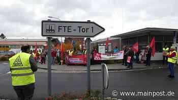 Kundgebung vor dem Werkstor von FTE Valeo in Ebern - Main-Post