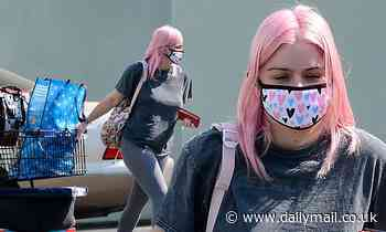 Ariel Winter keeps it comfortable in leggings as she makes a serious Petco run for her four dogs