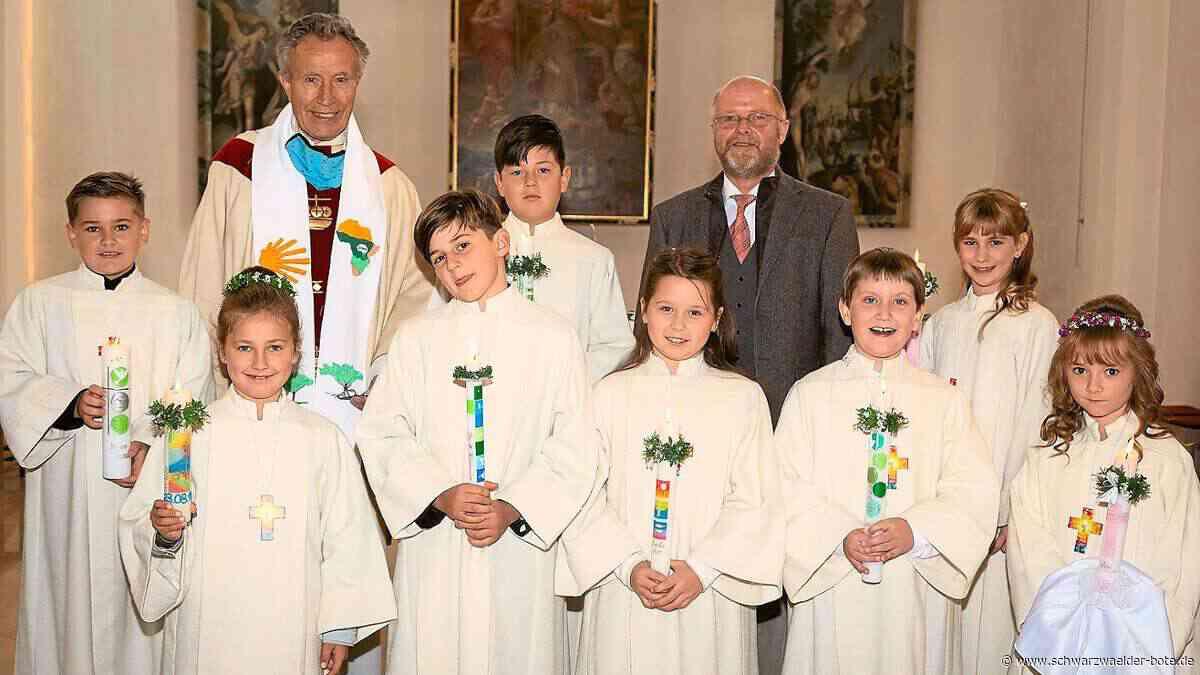 Dornstetten: Acht Kinder feiern Kommunion in Dotternhausen - Dornstetten - Schwarzwälder Bote