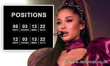 Ariana Grande reveals new album to be called Positions and will be out in two weeks