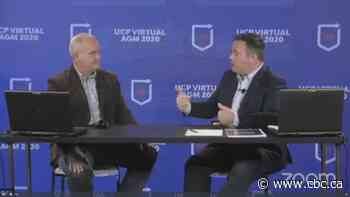 O'Toole and Kenney sit side-by-side for livestream without wearing masks