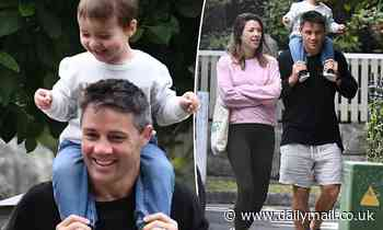 Tara Rushton and Cooper Cronk step out as a family with son Lennox after revealing baby news