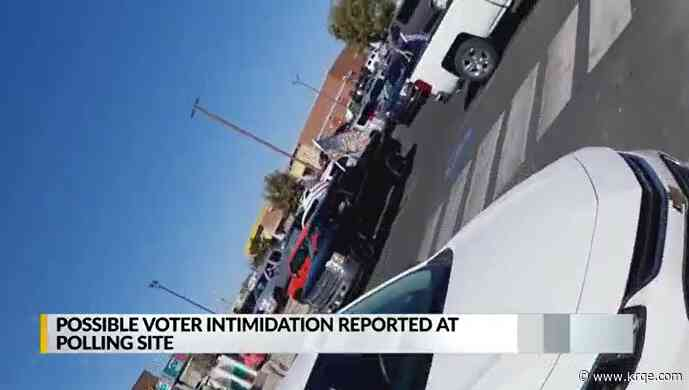 VIDEO: County clerk reports possible voter intimidation at the polls