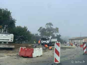 Gironde. Travaux du carrefour giratoire sur la D1113 à Beautiran : une déviation installée - Le Républicain