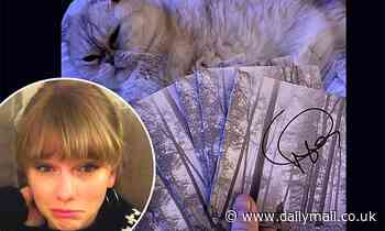 Taylor Swift jokes about how signed copies of Folklore CDs may come with wine stains and cat hair