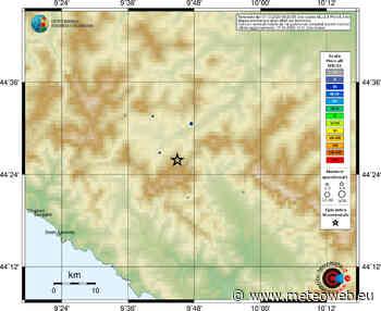 Terremoto Parma, scossa avvertita dalla popolazione in Emilia-Romagna [DATI e MAPPE] - MeteoWeb
