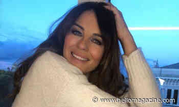 Elizabeth Hurley, 55, poses in just a jumper – and looks stunning