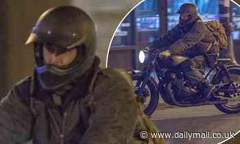 Colin Farrell films high-stakes chase scene on a motorbike for The Batman