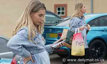 Dani Dyer shows blossoming baby bump as she heads out with fellow Love Island star Georgia Steele