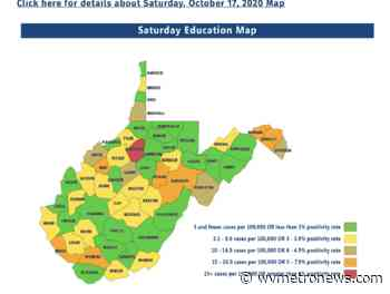 Several football games, many soccer & cross country postseasons canceled by state metrics map - West Virginia MetroNews