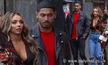 Jesy Nelson joins boyfriend Sean Sagar on a night out with pals
