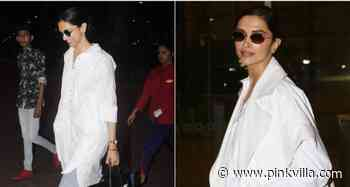5 Times Deepika Padukone showed us how to rock a white shirt as she turned the airport into her runway - PINKVILLA