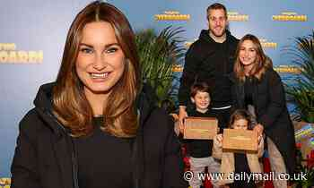 Sam Faiers attends VIP family film screening alongside Amy Childs and Aston Merrygold